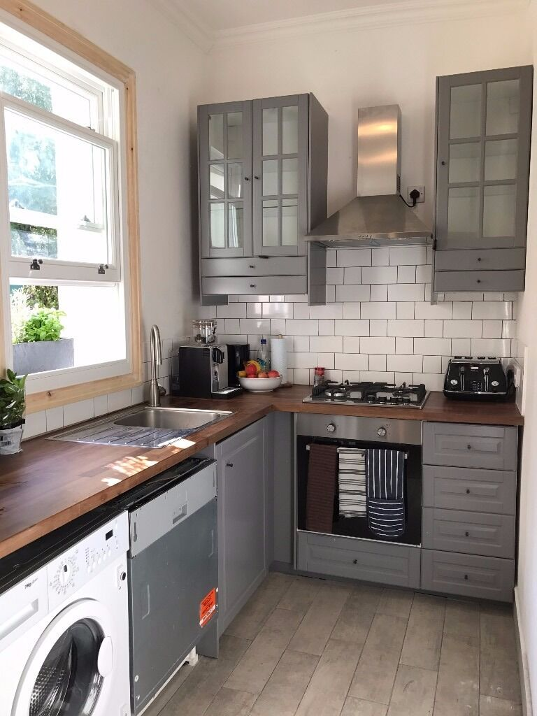 Ikea Kitchen Cabinets Grey Bodbyn 163 50 In Holloway