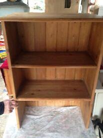 pine bookcase / shelf