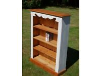 shabby chic solid pine bookcase