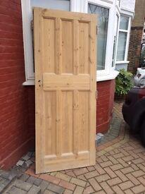 A pair of Stripped Original 1920's Internal Doors