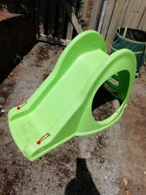 Green toddler slide