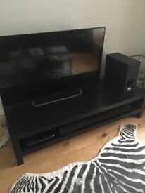 IKEA LACK TV BENCH BLACK/BROWN