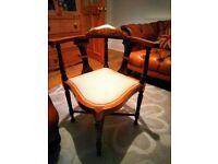 edwardian antique corner bedroom chair