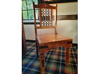 Wood and Wrought Iron Chairs