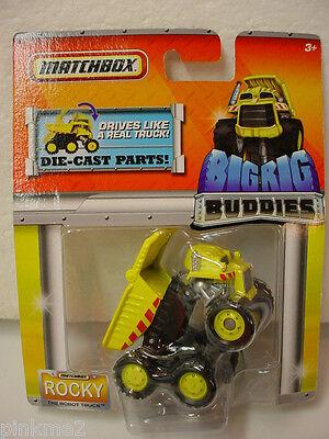 2011 MATCHBOX BIG RIG Buddies yellow ROCKY The Robot Truck dump truck