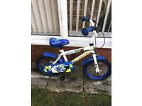 """APOLLO POLICE BIKE, 14"""" WHEELS, REALLY GOOD CONDITION, i sell new stabilisers £5"""