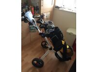 Walter Hagen Golf Clubs in Bag -trolley and travel bag included in the price