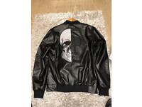 Philipp plein leather jacket