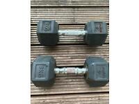 BodyMax Hex weights (2x12.5kg, 2x8kg) 7kg weight ball