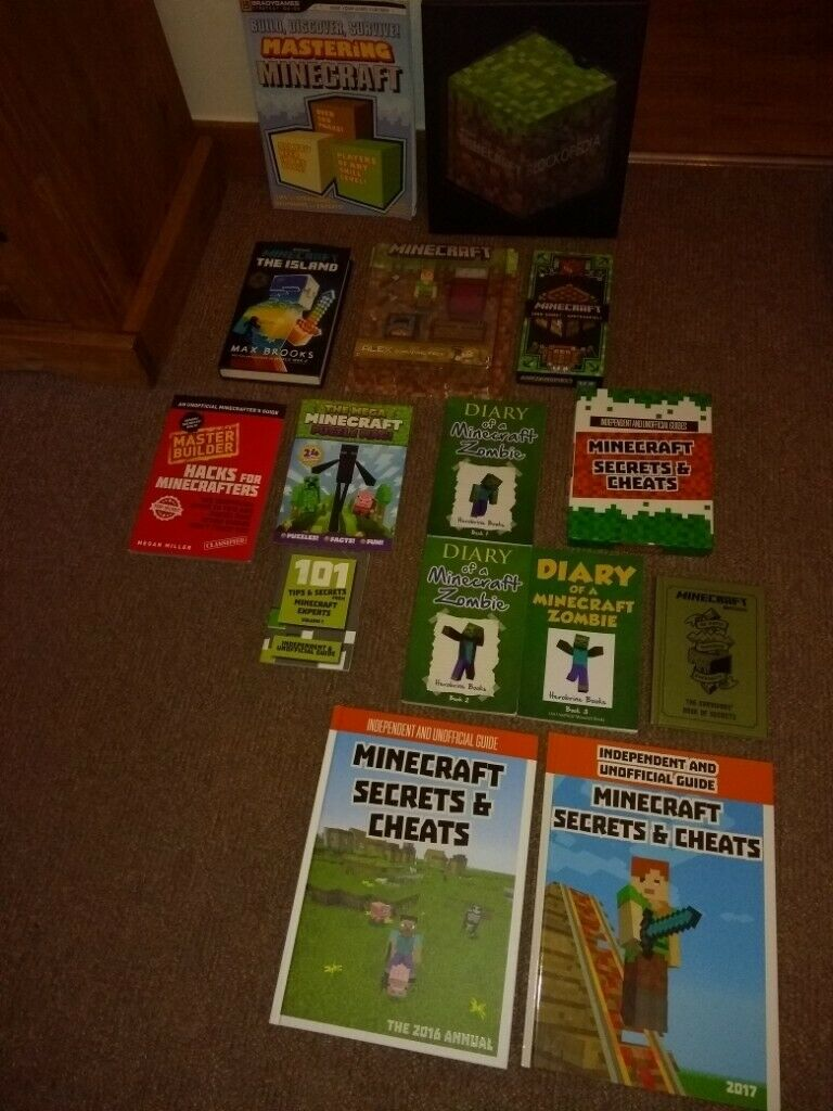 Bundle of Minecraft Goodies - cap, books, games, survival pack, stickers,  papercraft, poster, mags | in Southside, Glasgow | Gumtree