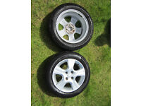 Honda Jazz 3 (three) alloy wheels - used