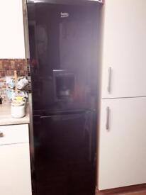 Beko black fridge freezer