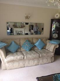 Three seater sofa and 2 chair very good condition offers taken