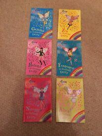 6 of the Sporty Fairy books - Rainbow Magic fairy books 57-60 & 62-63