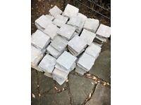 Kandla grey natural sandstone setts - approx 200+