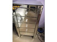 Marks and Spencer's 5 drawer mirrored chest