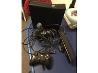 Xbox 360 slim console with Kinect sensor