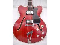 Hofner Guitar:Vintage 1964:Verithin:electro-acoustic:Archtop:Road worn.
