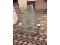 TV Stand - Glass In Excellent Condition