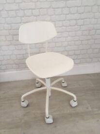 Ikea White Janne Swivel Chair
