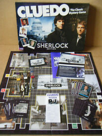 Cluedo, The Sherlock Edition, detective board game. Hasbro 2012. Complete.