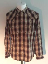 Mens ZARA Western shirt SizeL slim fit