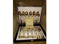 Silver coated cutlery set