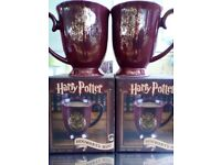 HARRY POTTER MUGS X2 Brand new in original boxes £7