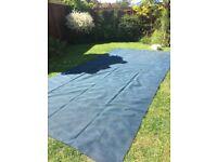 Large blue softex groundsheet awning carpet 5 x2.5 metres approx
