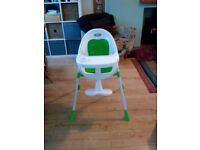 Bucket seat high chair excellent condition