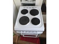 Frigidaire 50cm Electric solid Plate Cooker-White