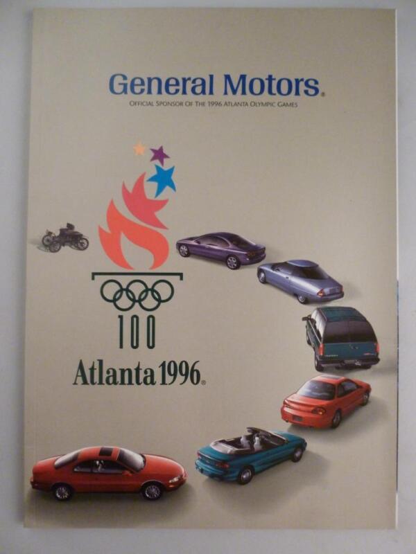 RARE 1996 Atlanta Olympics General Motors Book Brochure Chevy GMC Olds Buick