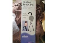 Brand new in box folding seat cane