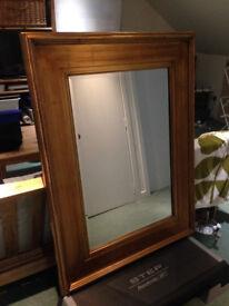 Large gold framed mirror (94x125cm)