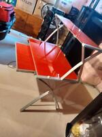 Glass Red Computer Table/Desk