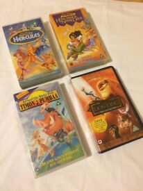 Collection only!Collection of Disney videos in fair condition
