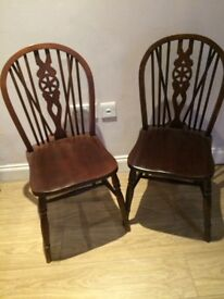 Two woodern chairs