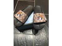 Gucci Tiger Sliders (Louis Vuitton Versace Louboutin Moncler)