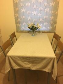 Wood Effect Dinning Table & 4 Matching Chairs