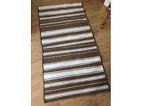 Ikea ALSLEV Brown/White Rug (80cm x 150cm)