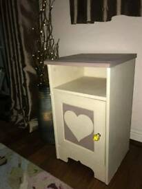 Bedside table cabinet night stand reworked painted with Annie Sloan chalk paint