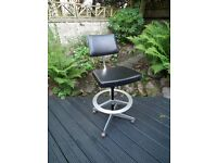 Vintage Retro Du-al Princess Architect / Draughtman / Machinest Swivel Chair