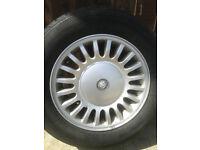 """Jaguar XJ8 2001 16"""" Alloy Wheels & Very Good KHUMO tyres Set of 4"""