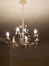 EVA cream leaf effect pendant 6 lamp ceiling light from B+Q