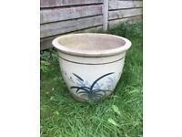 Large Glazed Plant Pot Planter