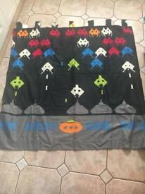 'NEXT' space invaders curtains and mini rug