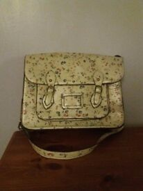 Pretty Satchel. Lots of useful pockets, large enough for A4 folders etc.