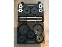 18KG Dumbell Set, Brilliant Condition, RRP £79.99
