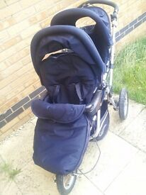 Jane Powertwin Pram with car seat. Great value!!
