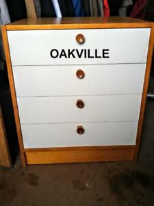 "ONE ONLY Bedside Table Small Dresser White Drawers Ikea Assembled 20x25x28"" Nightstand Bedroom Chest Storage"